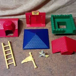 Lincoln Logs Assorted Replacement Parts (Lot of 8)